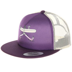 Бейсболка с сеткой Nixon Pop Trucker Hat Deep Purple