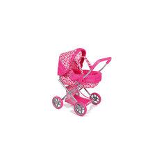 Коляска-трансформер для кукол с люлькой, темно-розовая, Melobo