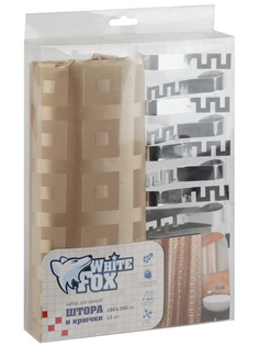 Шторы для ванной WHITE FOX