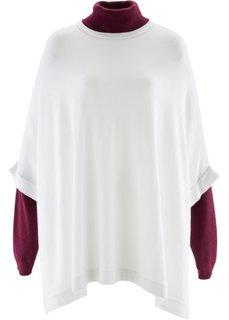 Пуловер в стиле пончо (черный) Bonprix