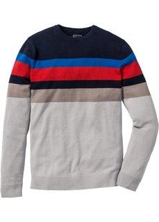 Пуловер Slim Fit (разные цвета в полоску) Bonprix
