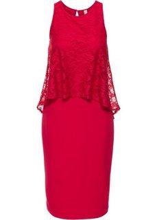 Платье с кружевной отделкой (ночная синь) Bonprix
