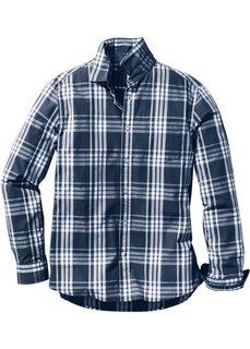 Клетчатая рубашка Regular Fit с длинным рукавом (светло-серый/белый в клетку) Bonprix