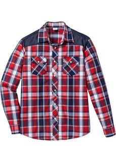Рубашка Regular Fit с длинным рукавом (зеленый в клетку) Bonprix