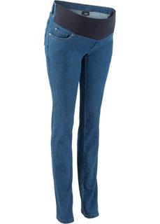 Мода для беременных: прямые джинсы с заниженной талией (темный деним) Bonprix