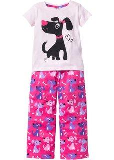 Детская пижама (2 изделия) (белый/лилово-синий) Bonprix
