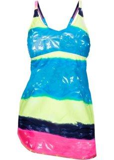 Купальное платье (черный/ярко-розовый) Bonprix