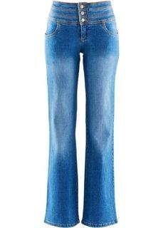 Джинсы-клеш супер-стретч нет живота, высокий рост (L) (нежно-голубой) Bonprix