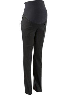 Мода для беременных: прямые брюки-стретч (черный) Bonprix