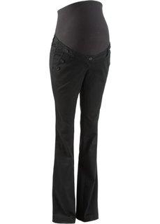 Для будущих мам: брюки Bootcut с линией пуговиц (темно-синий) Bonprix