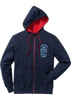 Трикотажная куртка Regular Fit с капюшоном (светло-серый меланж) Bonprix