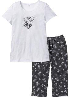 Пижама-капри (цвет белой шерсти/минерально-с) Bonprix