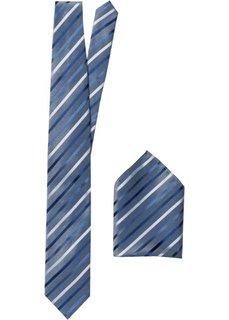 Галстук + платок (2 изд.) (бирюзовый в полоску) Bonprix