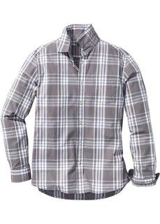 Клетчатая рубашка Regular Fit с длинным рукавом (темно-синий/белый в клетку) Bonprix