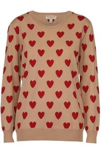 Пуловер прямого кроя с круглым вырезом и контрастным принтом Burberry