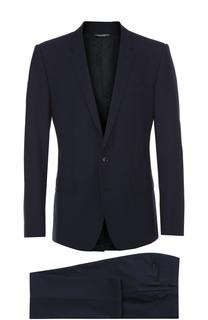 Шерстяной костюм с декоративной отстрочкой Dolce & Gabbana