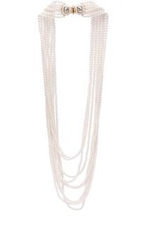 Ожерелье из кристального жемчуга Oscar de la Renta