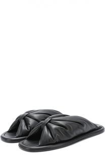 Кожаные сабо с перемычкой Balenciaga