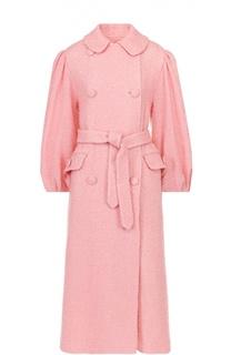 Буклированное пальто свободного кроя с широкими рукавами и поясом Simone Rocha