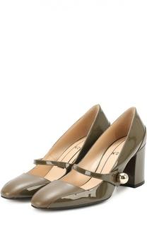 Кожаные туфли с декорированным ремешком No. 21