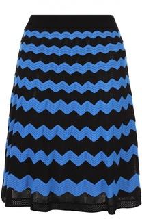 Мини-юбка А-силуэта в контрастную полоску M Missoni