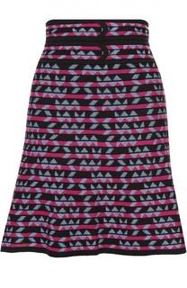 Мини-юбка в контрастную полоску с широким поясом M Missoni
