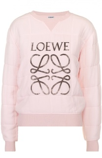 Стеганый свитшот с логотипом бренда Loewe