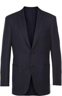 Шерстяной приталенный пиджак Brioni