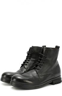 Высокие кожаные ботинки с круглым мысом Marsell