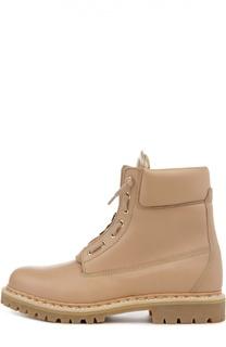 Ботинки в стиле милитари на молнии Balmain