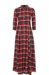 Платье-рубашка в клетку с укороченным рукавом Denim&Supply by Ralph Lauren