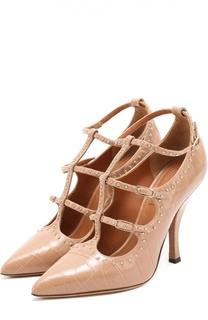 Туфли из фактурной кожи с заклепками Givenchy