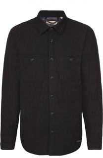 Утепленная стеганая куртка из смеси хлопка и шерсти Burberry Brit