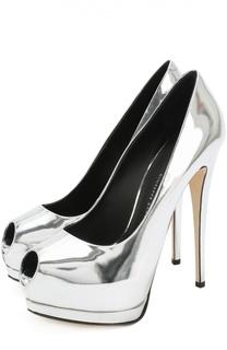 Туфли Sharon из металлизированной кожи на шпильке Giuseppe Zanotti Design
