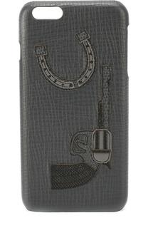 Кожаный чехол для iPhone 6 Plusс аппликацией Dolce & Gabbana