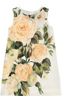 Платье без рукавов с цветочным принтом Dolce & Gabbana