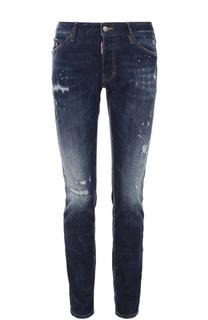 Зауженные джинсы с потертостями Dsquared2
