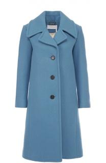 Шерстяное пальто прямого кроя с отложным воротником Chloé