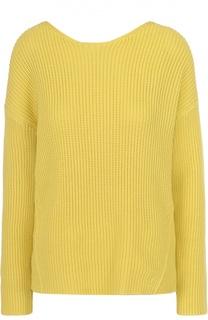 Вязаный пуловер прямого кроя с драпировкой MRZ