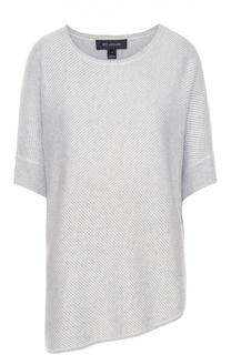 Пуловер асимметричного кроя с укороченным рукавом St. John