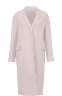 Шерстяное пальто прямого кроя с карманами Kiton