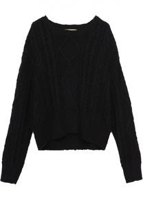 Укороченный хлопковый пуловер крупной вязки Denim&Supply by Ralph Lauren