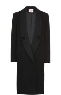 Удлиненное пальто прямого кроя с широкими лацканами Lanvin