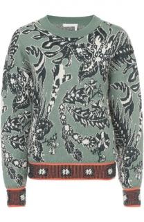 Пуловер прямого кроя с цветочным принтом Chloé