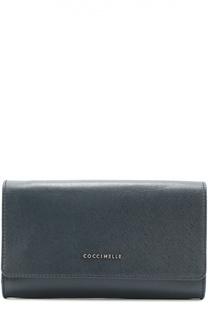 Клатч из сафьяновой кожи Coccinelle