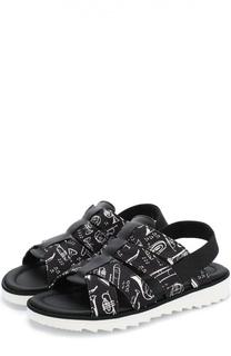 Комбинированные сандалии с принтом Dolce & Gabbana