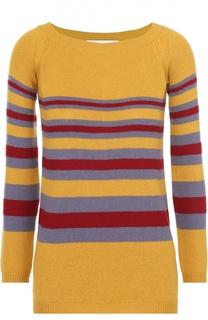 Кашемировый пуловер прямого кроя в контрастную полоску Valentino