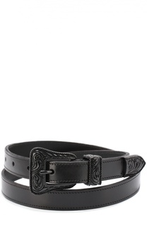 Кожаный ремень Western Buckle Saint Laurent