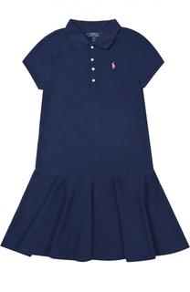 Платье джерси с оборками Polo Ralph Lauren