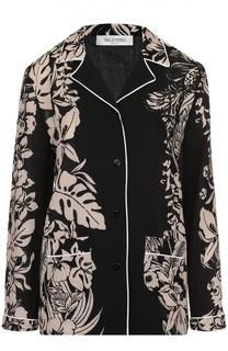 Блуза в пижамном стиле с контрастным принтом Valentino
